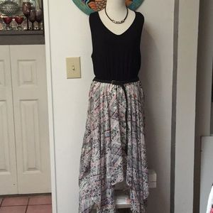 Maurices Multi-colored Handkerchief Dress Size 1